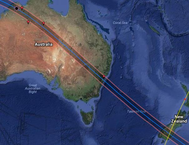 2028 Australia New Zealand Total Solar Eclipse Tours Astro Eclipse